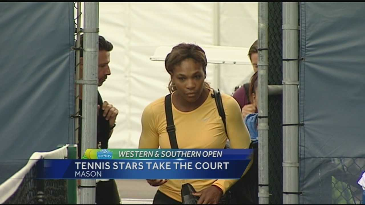 Serena Williams made it out in the morning, and had a full crowd of onlookers, some of whom said catching the players in practice is better than watching a match.