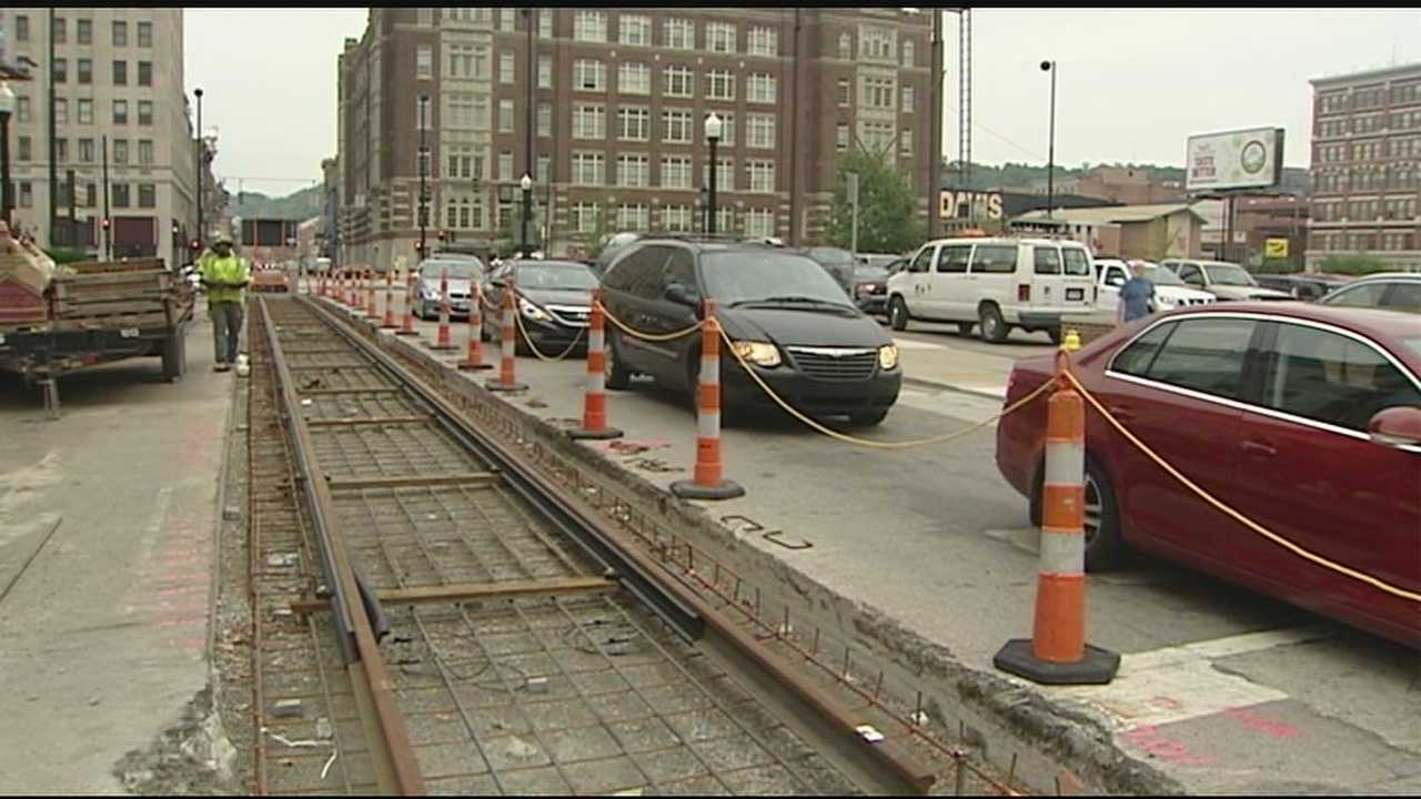 Construction hits the core of the city in a big way this weekend. From 8 p.m. Friday to 6 a.m. Monday, Court Street between Walnut and Vine streets will be closed. The laying of streetcar tracks along the 3.6-mile route is arriving downtown.