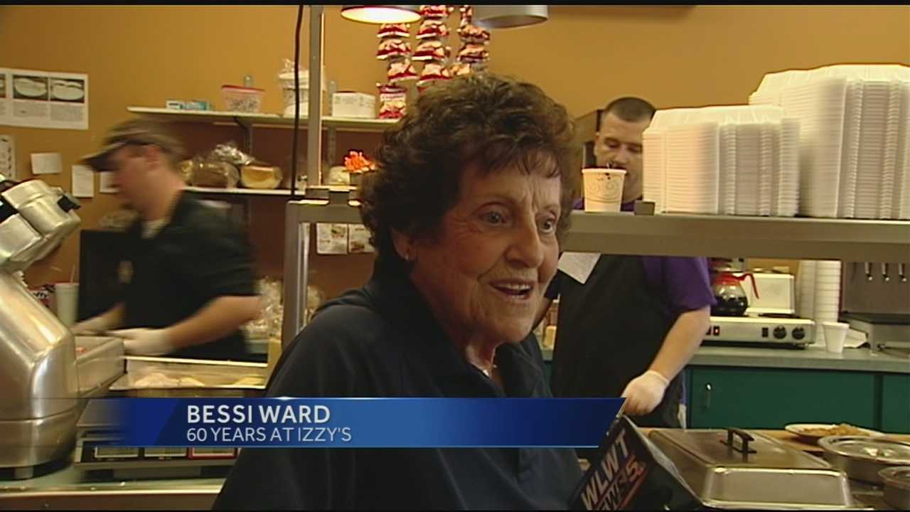 Bessie Ward, 90, has been working at Izzy's for 60 years.