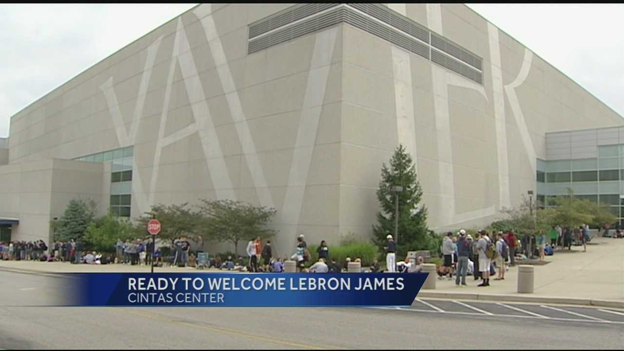 Lebron James is on the way to Cincinnati, along with the Cleveland Cavaliers. Tickets went on sale at 10 A.M. this morning at the Cintas Center for the Cavs and Indiana Pacers game.
