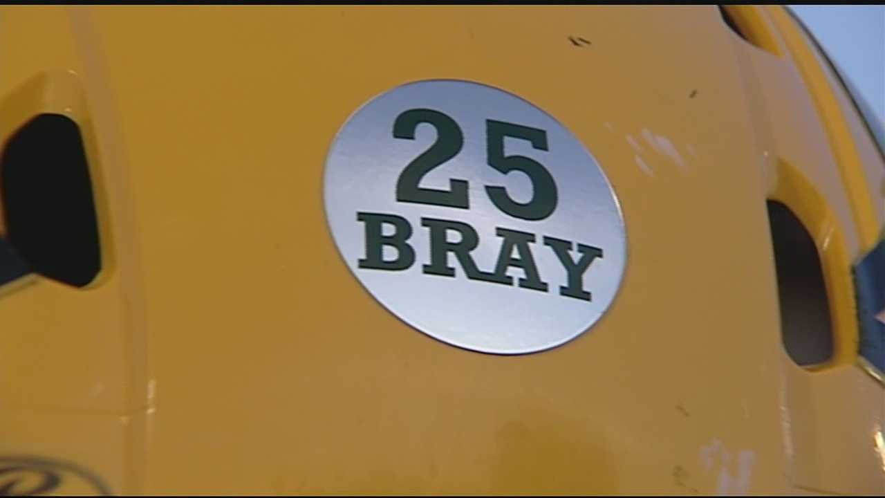 The football game on the field between Little Miami and Harrison was secondary Friday. Players and fans on both sides of the field remembered Brayden Thornbury who died this week.