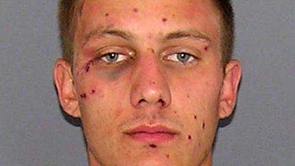 Nicholas Eggleston, accused of assaulting a deputy.