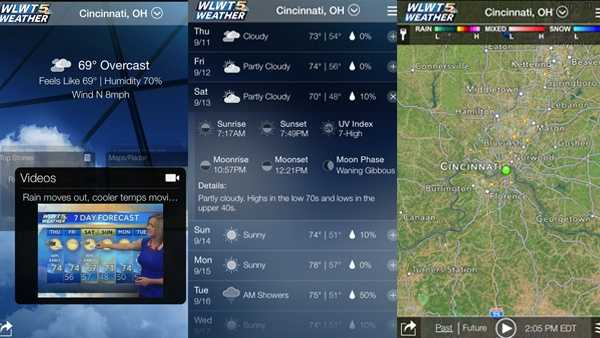 From severe weather alerts to video forecasts and school/business closings, the wlwt weather app keeps you up to date. You can find the WLWT Weather App by searching WLWT in your iPhone's app store or click here to download.