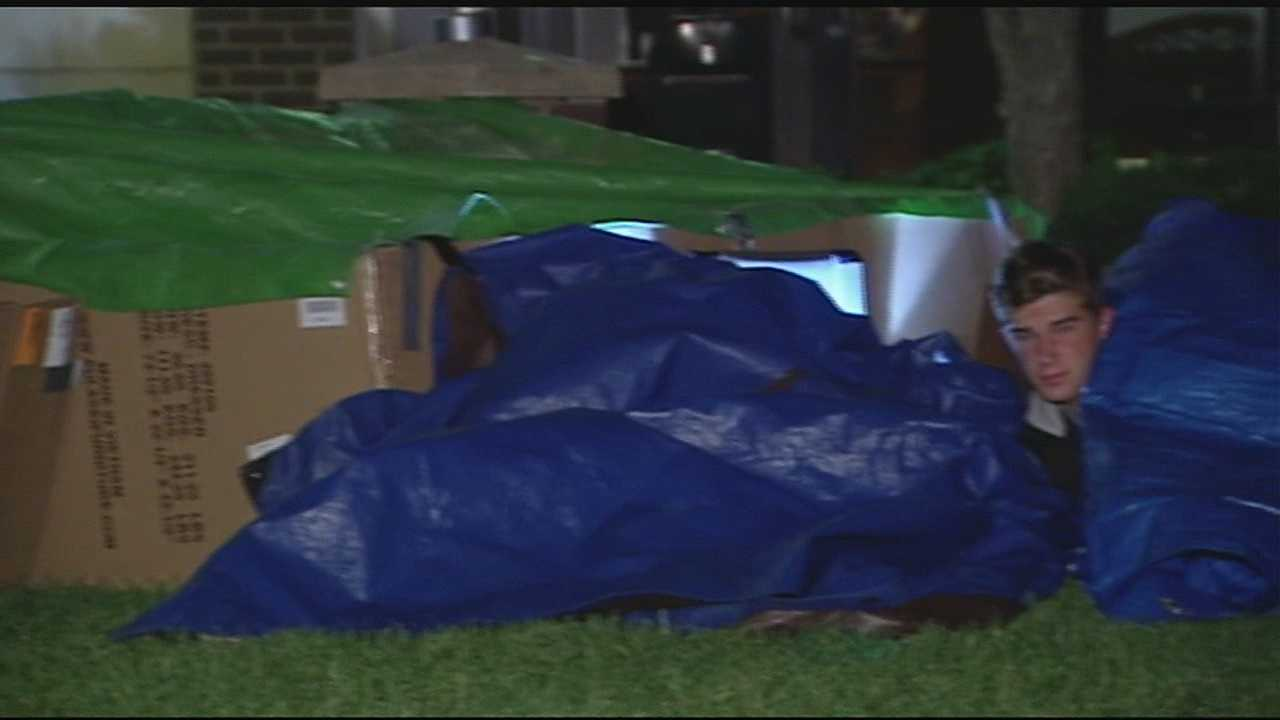 A group of Cincinnati Hills Christian Academy students also raised awareness about homelessness through the Homelessness Awareness Overnight Project.