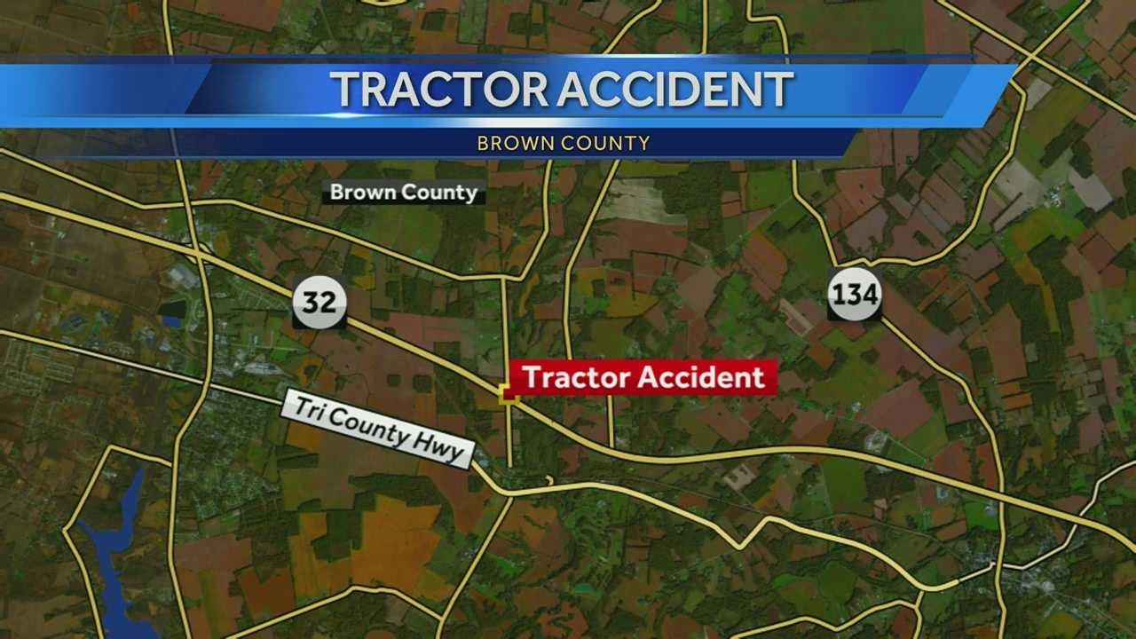 An EMT who responded to the scene told WLWT News 5 the man was clipped by his tractor.