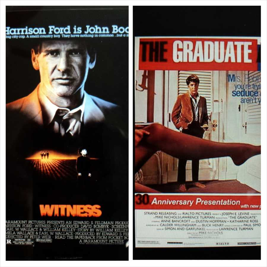 "5. The first grownup movies that knocked me out: ""Witness"" (really thought Harrison Ford was great - and he wasn't playing Han Solo)&#x3B; ""The Graduate"" (the first movie I watched twice in the same sitting!).."