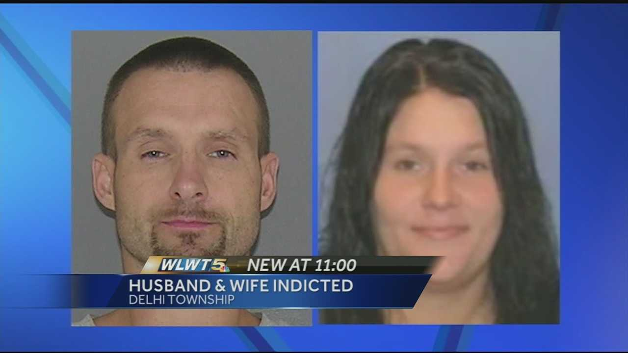 Police said Keith Brunner and his wife Tasha Brunner, of Sayler Park, would steal items out of resident's sheds and sell them at pawn shops.