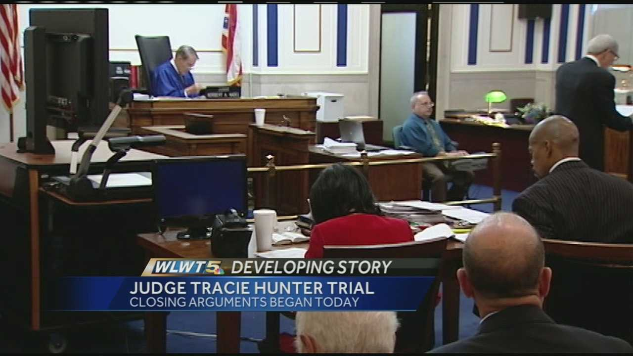 The prosecutors and defense began to lay out their final arguments in Hamilton County Juvenile Court Judge Tracie Hunter's trial on Monday.