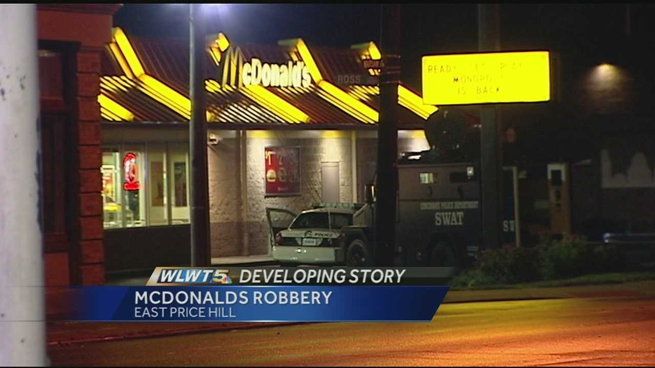Monday was a terrifying night for McDonald's workers, who had to hide out in a freezer during a hold-up in East Price Hill. Police are still looking for one of the gunmen. One employee talked about what happened.