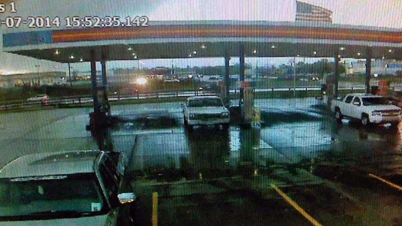 Surveillance camera captured these images as the storm approached Maysville.