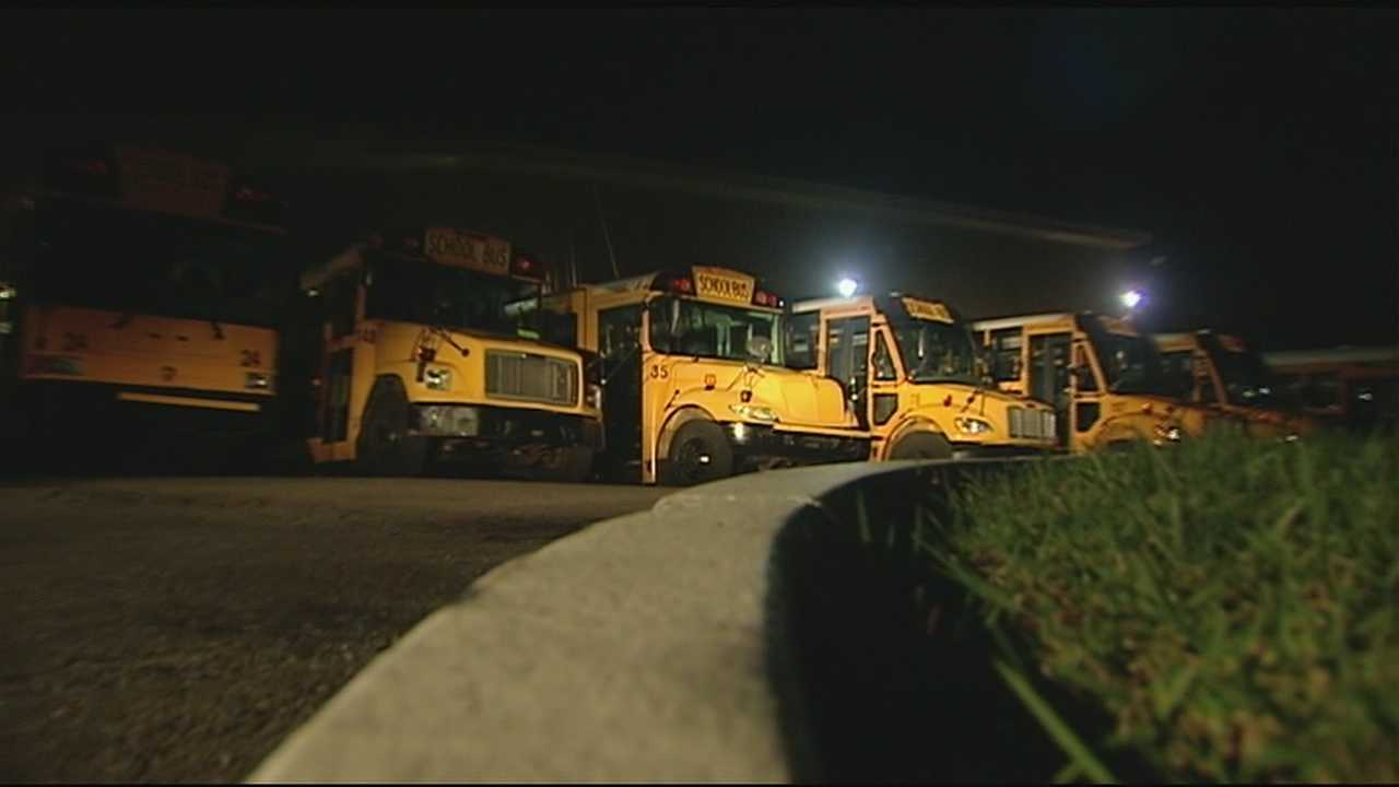 Kenton County School officials said several kids on one of their buses noticed a man who was yelling at their bus driver had a gun.