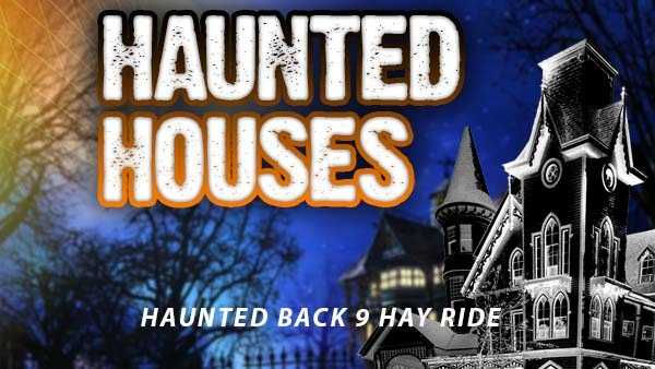 Haunted Back 9 Hay Ride - 1000 Oaks Drive, Flatwoods, Kentucky 1000 Oaks Drive, Flatwoods, Kentucky 41139Dates for 2015: Fridays/ Saturdays in OctoberHours: 7 p.m. until midnightAdmission price: $5https://www.facebook.com/pages/The-Haunted-Back-9-Hay-Ride/1426082087603986