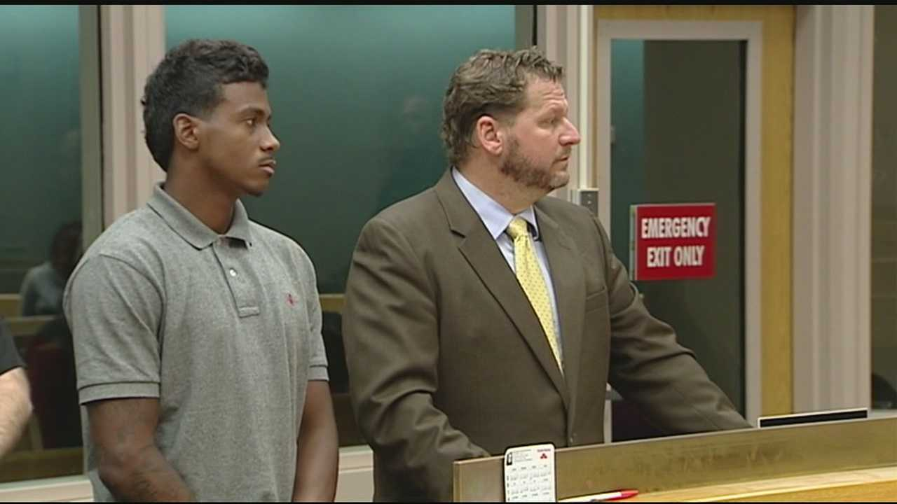 Jarred Evans in court after his arrest