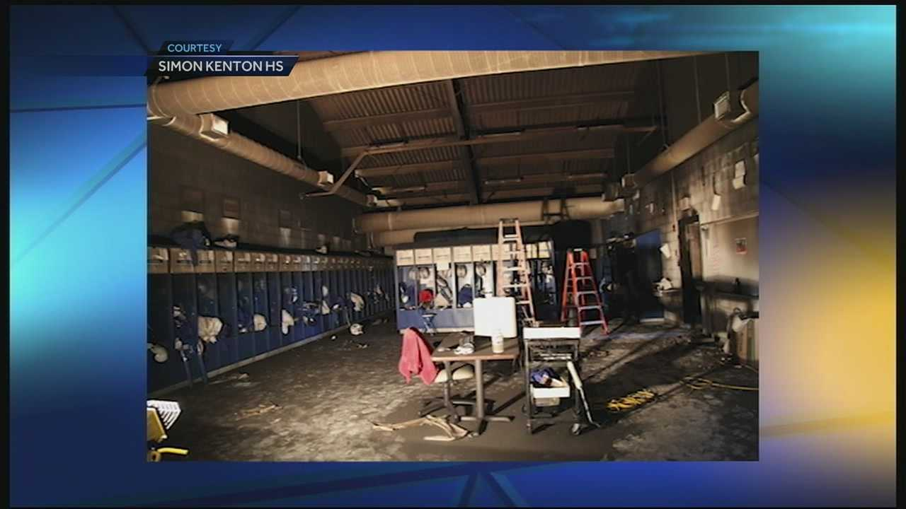A fire in Simon Kenton's field house almost cost the Pioneers their senior night. But their rivals stepped up with backup supplies, and the team will take the field Friday night against Bullitt Central.