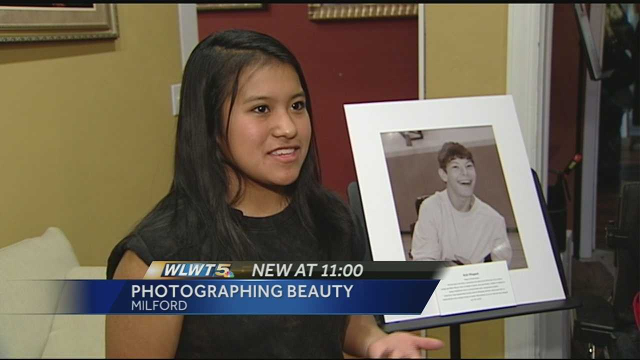 Milford High School students are learning life lessons through an art class. MHS freshman Erika House said she was inspired by award winning photographer Rick Guidotti who spoke at her school months ago. His photos capture people's true character instead of focusing on their disabilities.