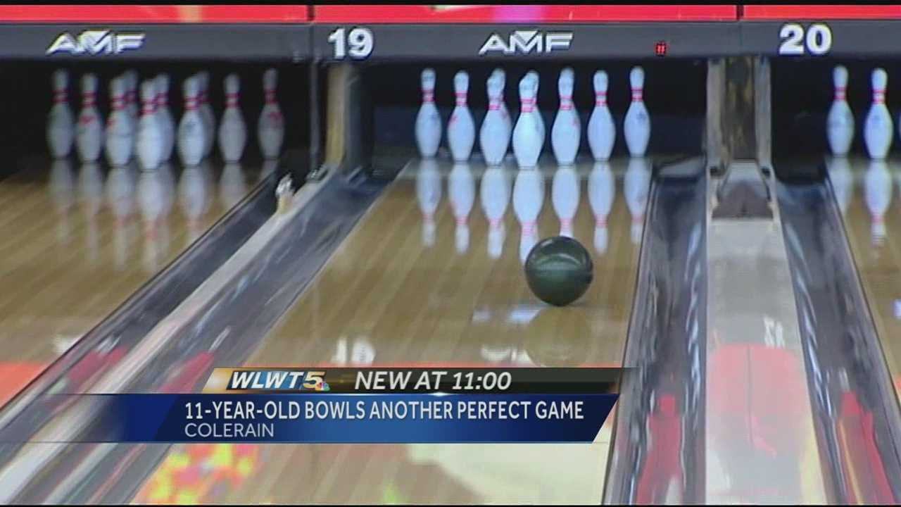 For the second time in less than a year, Nolan Blessing bowled a perfect game at Northwest Lanes in Colerain Township.
