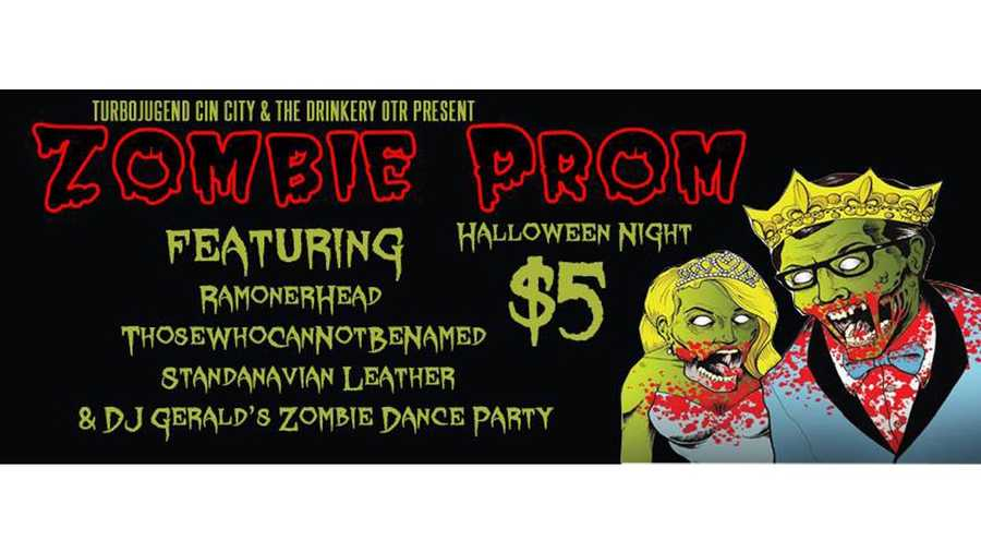 Zombie Prom (click for more info)Don't forget to bring brains to snack on at the Zombie Prom! Wear your best zombie costume for the chance to win a prize and slow dance with other undeads.On Halloween at 9 p.m.The Drinkery, 1150 Main St.$5 at the door