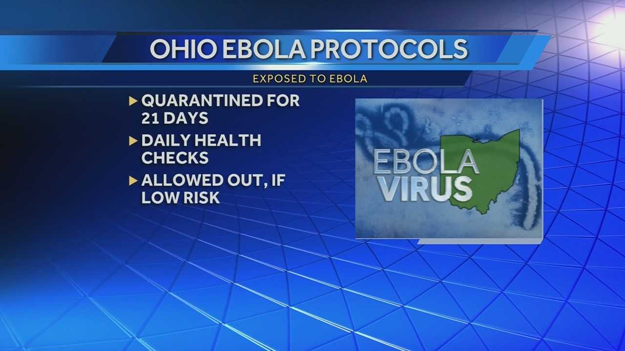 The state of Ohio released its new protocols regarding Ebola in an effort to reduce the threat of the virus spreading. The new protocols affect anyone who has traveled to West Africa whether they were exposed to Ebola or not.