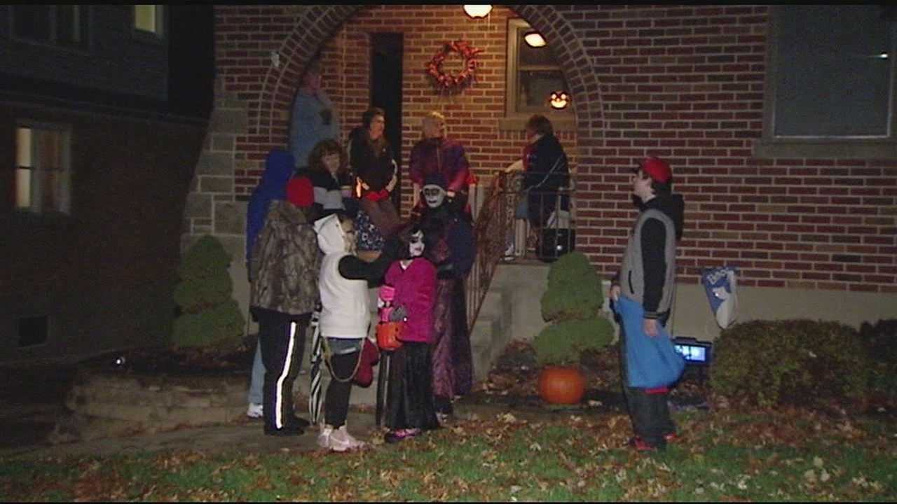 Parents took the weather into consideration and bundled up their children in layers or found some warmer costumes.