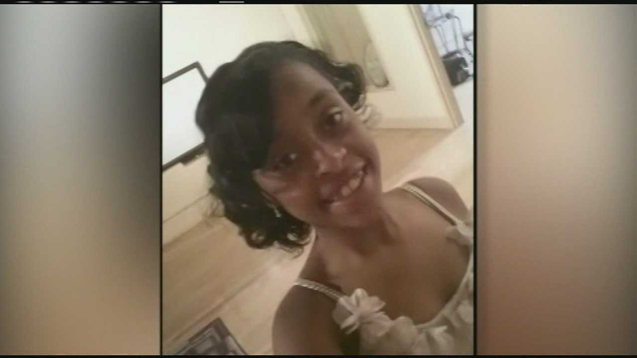 Kymani Sanders, 15, was critically injured when she was hit by a car while on the way to school last Thursday.