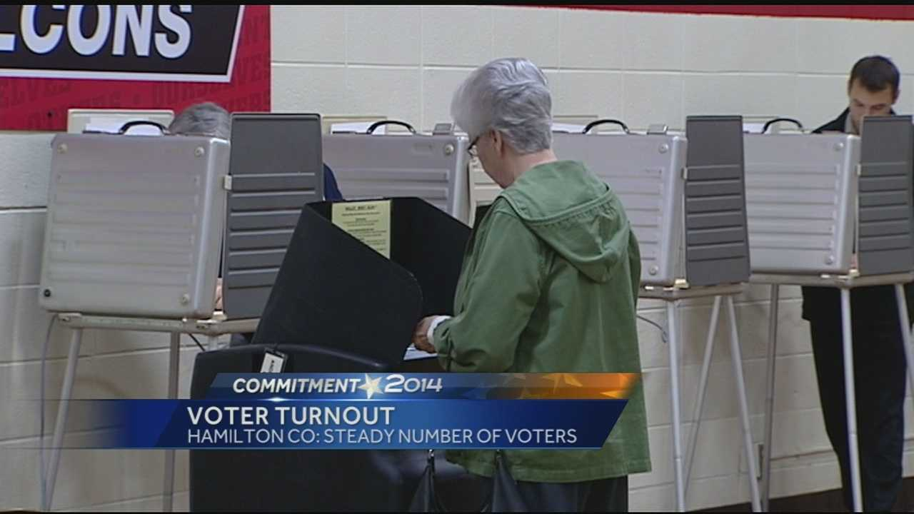 A report on voter turnout and a protest at one Hamilton County polling place.