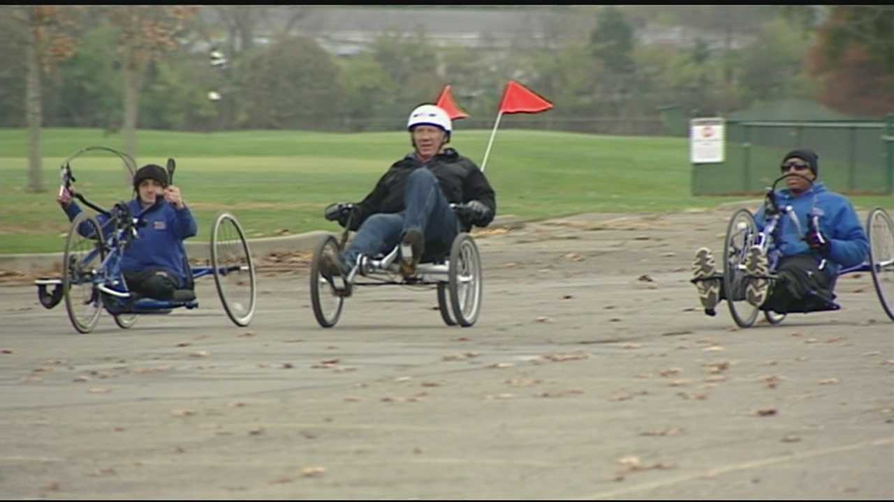 The Disabled Veterans 5K takes place Saturday, but one group won't run the race on foot. The group will utilize special bikes to take part in the event.