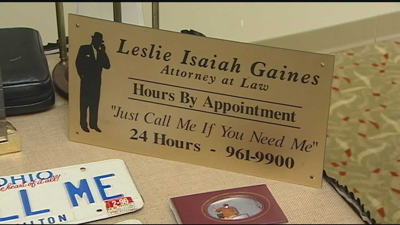 Family and friends gathered to say goodbye to longtime Hamilton County Judge and attorney Leslie Isaiah Gaines. Gaines died on Oct. 27 after losing his battle with cancer.