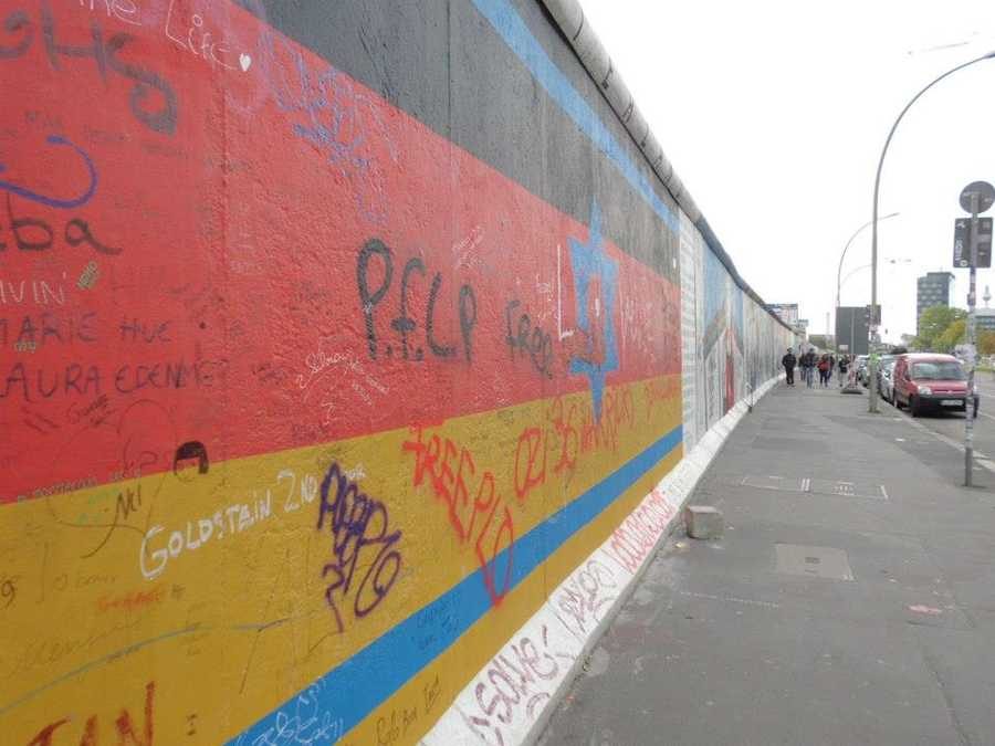 The Berlin Wall stretched for 96 miles from north to south. The section within Berlin was nearly 27 miles long.