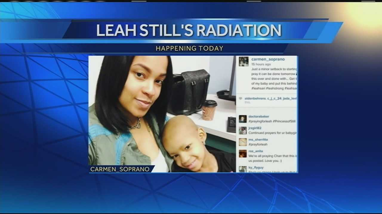 Channing Smyth, Leah's mother, said Leah had a minor setback in treatment Monday.