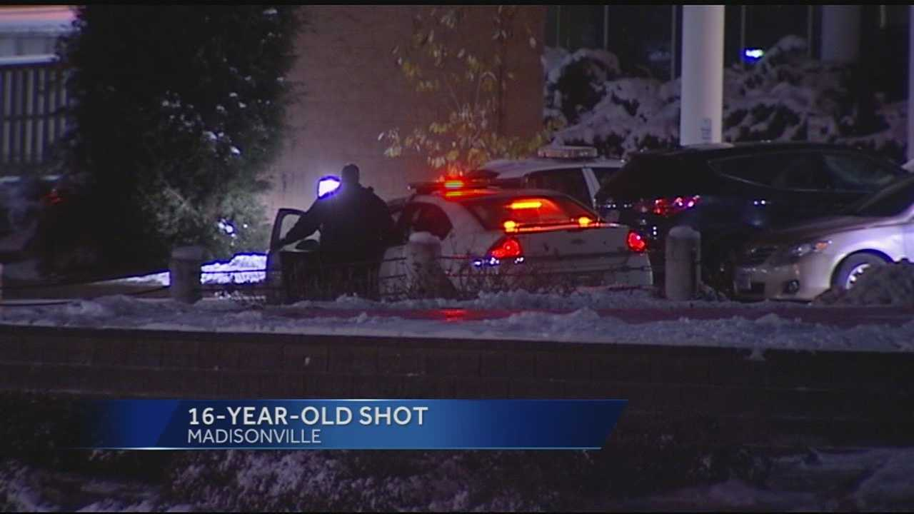 A teen was flown to UCMC after being brought to Jewish Hospital with two gunshot wounds to the chest.