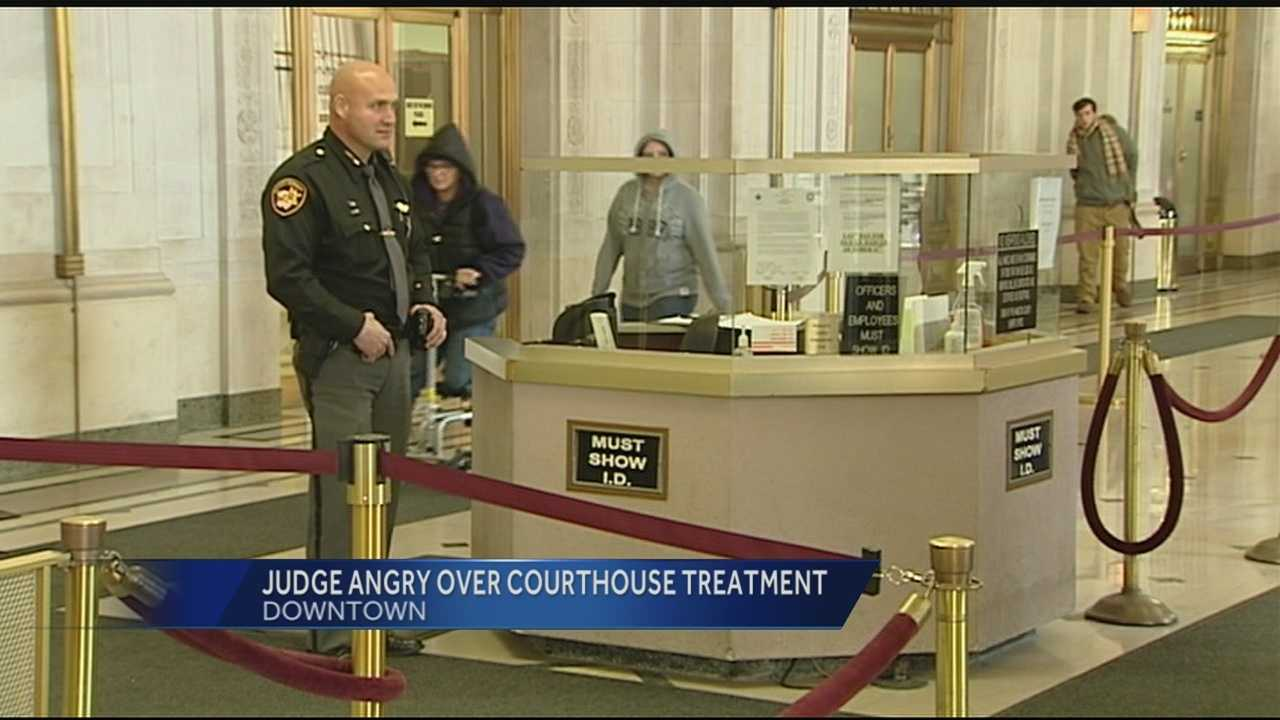 Hundreds of people pass through security checkpoints here at the Hamilton County Courthouse everyday but an identification stop of a judge this week has sparked serious allegations and new rules.