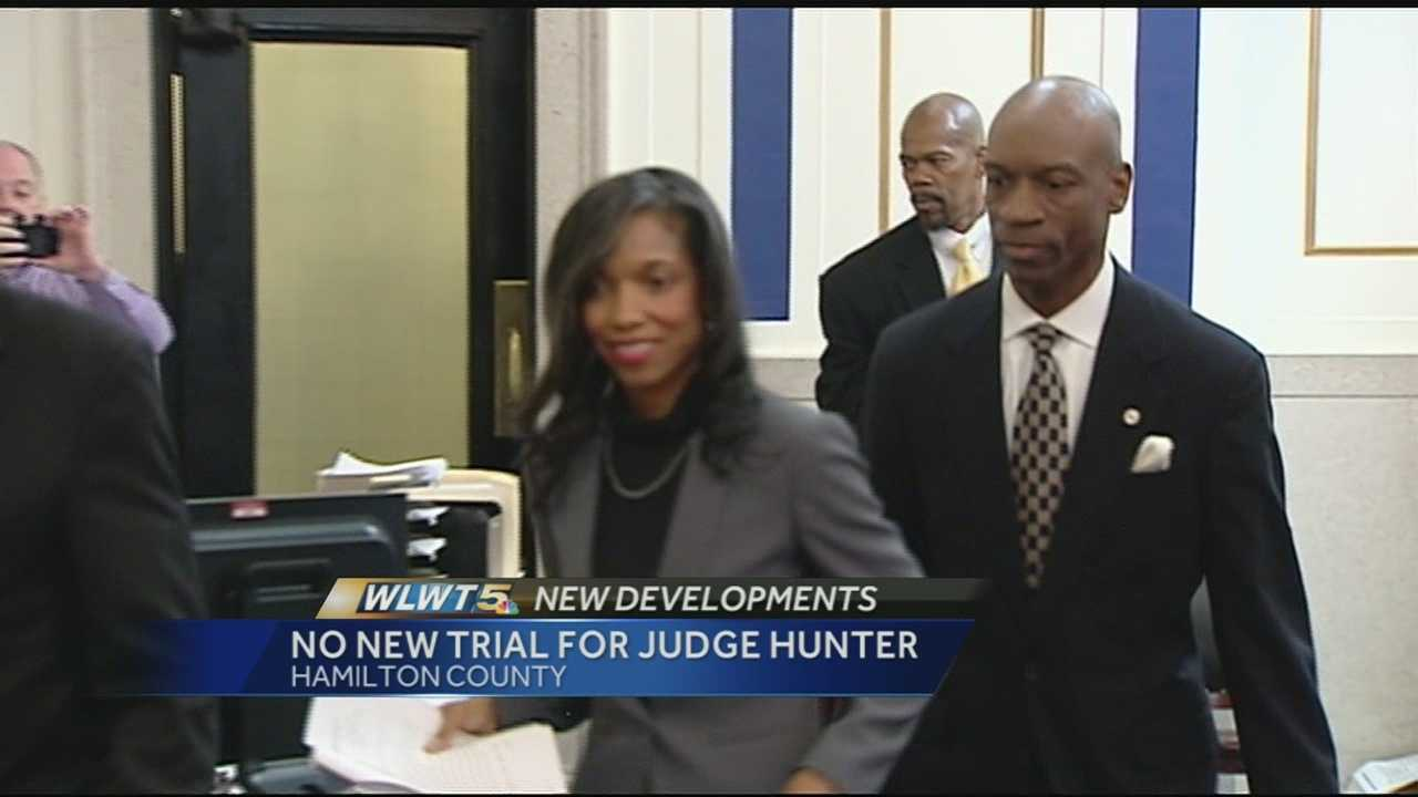 A new trial was denied for convicted juvenile judge Tracie Hunter but her attorney said he's convinced she will be exonerated before the case is done.