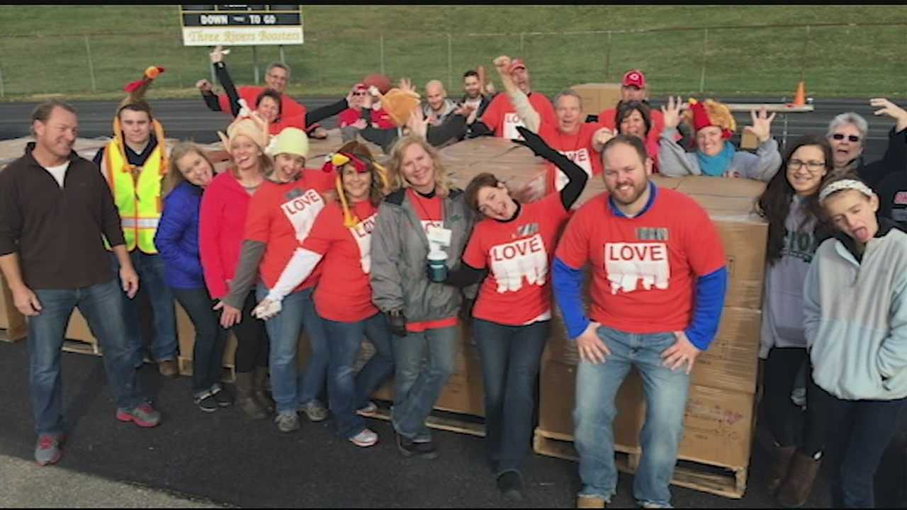 The Church of Cincinnati held food drives across the Tri-State Sunday in hopes of providing thousands of families food for the holidays. The event was made up of more than 100 Tri-State churches, collectively known as The Church of Cincinnati.