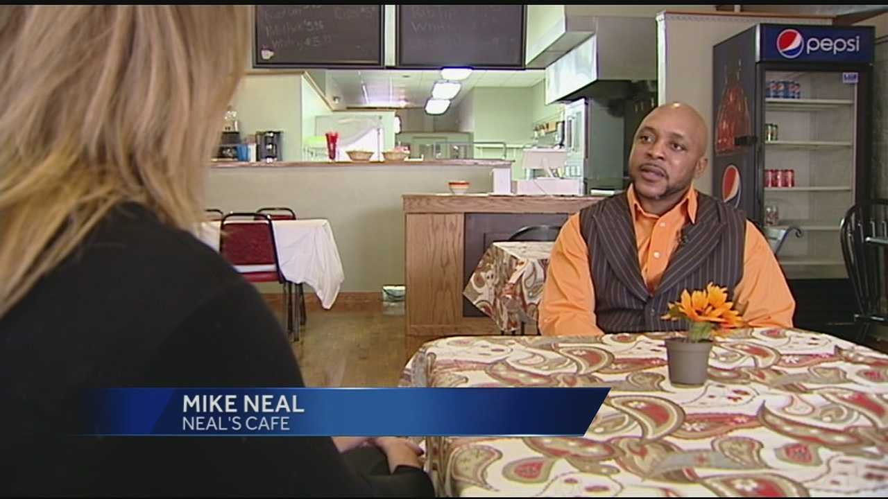 With just $10 in his pocket, Mike Neal decided to buy some ribs. Standing along East Avenue in Hamilton, Neal went to work.