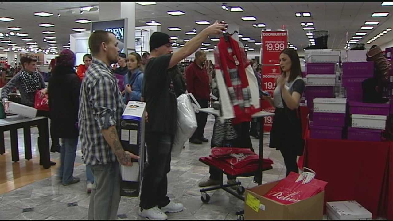 The doors to Best Buy opened at 5 p.m. Thursday and people quickly walked out with their new flat screen TVs.