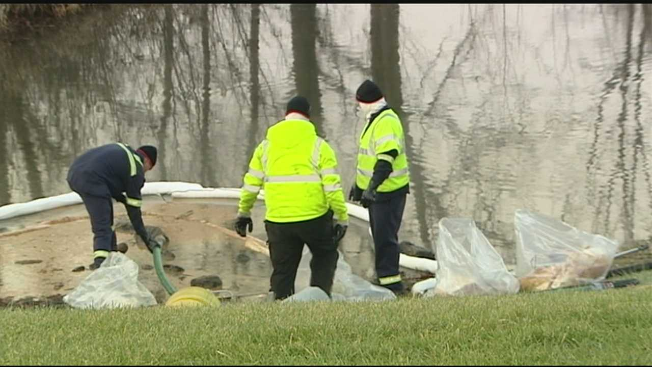 Cleanup crews were at Walden Ponds Golf Course and Subdivision cleaning up a fuel spill Friday.