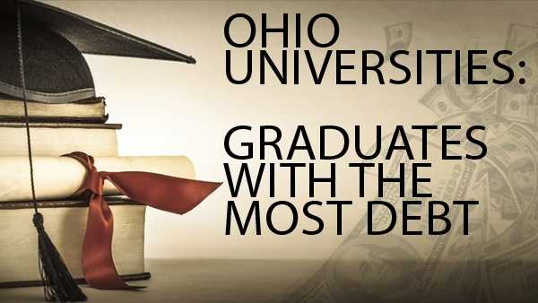 The average graduate from an Ohio college or university has $29,090. We've ranked Ohio schools by the average amount of debt with which each student graduates.