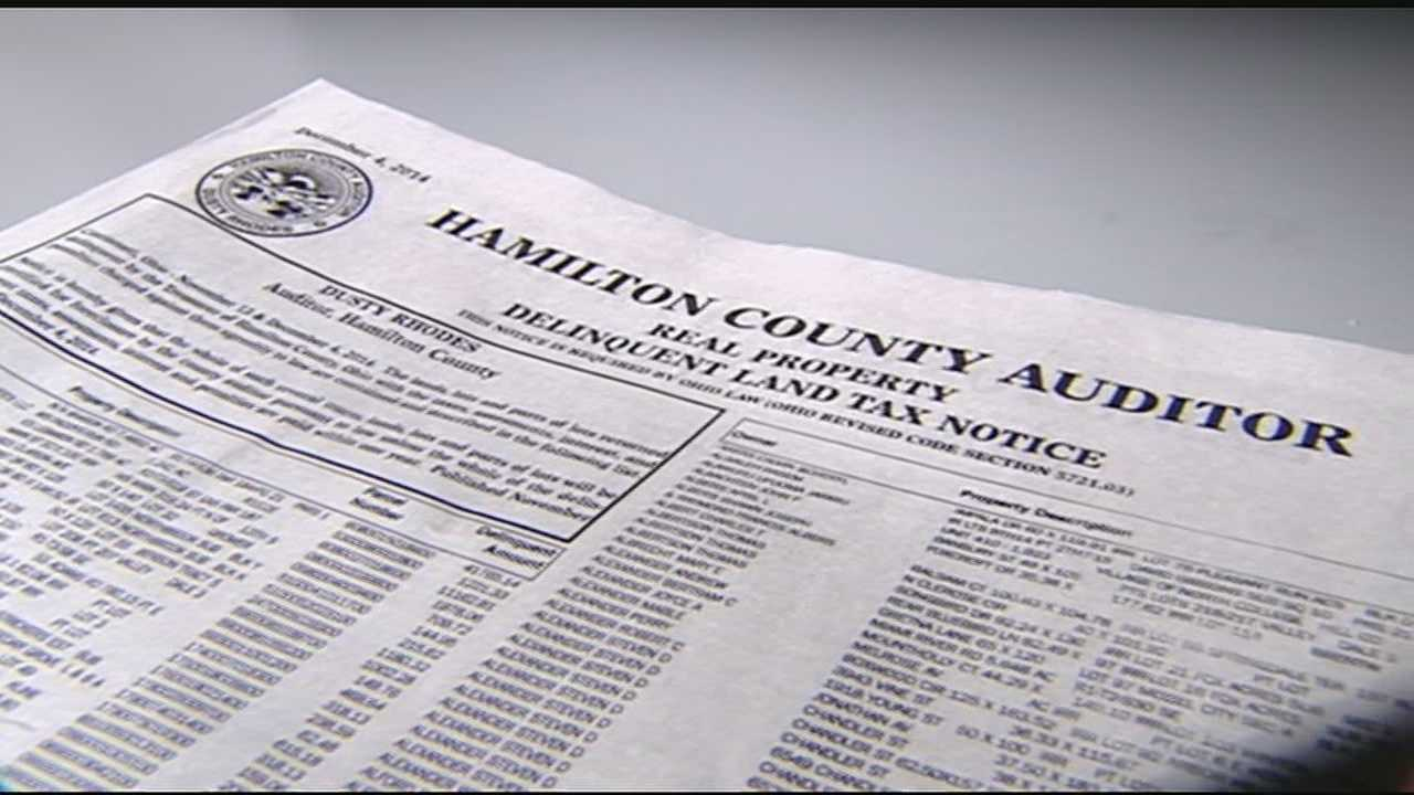 "As required by Ohio law, Hamilton County Auditor Dusty Rhodes has published another ""Real Property Delinquent Land Tax Notice."" As WLWT News 5 investigative reporter Todd Dykes notes, the latest list is 18 pages long and includes the names of thousands of people and businesses that owe money in back property taxes. In all, the notice indicates there's about $11.2 million in outstanding property taxes"