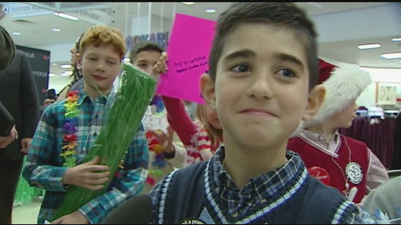 On Friday,7-year-old Evan Perricelli was a celebrity. He received everything from a limo ride with his family, to paparazzi, even a game show with WLWT News 5's Mike Dardis and Sheree Paolello.