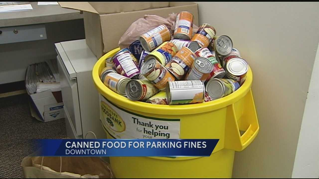 Monday is the first day of the city's holiday food for fines program. So far the city has collected about 300 canned goods. If you have an outstanding parking ticket at an expired meter, bring 10 canned goods to Cincinnati City Hall any day this week between 8 p.m. and 5 p.m. and you can eliminate the $45 late fee and you can pay the original citation.