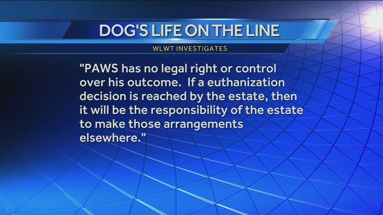 The fate of a German shepherd in Dearborn County, Indiana, is unclear following the recent death of his owner. WLWT News 5 investigative reporter Todd Dykes says the dog, named Bela, is at the center of a debate about the deceased woman's last Will and Testament.