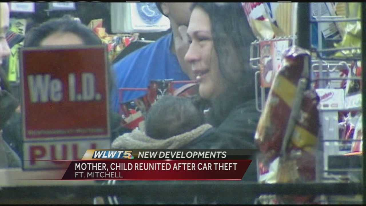 Investigators said 20-month-old Henry Flores slept alone in the stolen car while it sat parked in the gas station parking lot for two-and-a-half hours until it was spotted by two women.