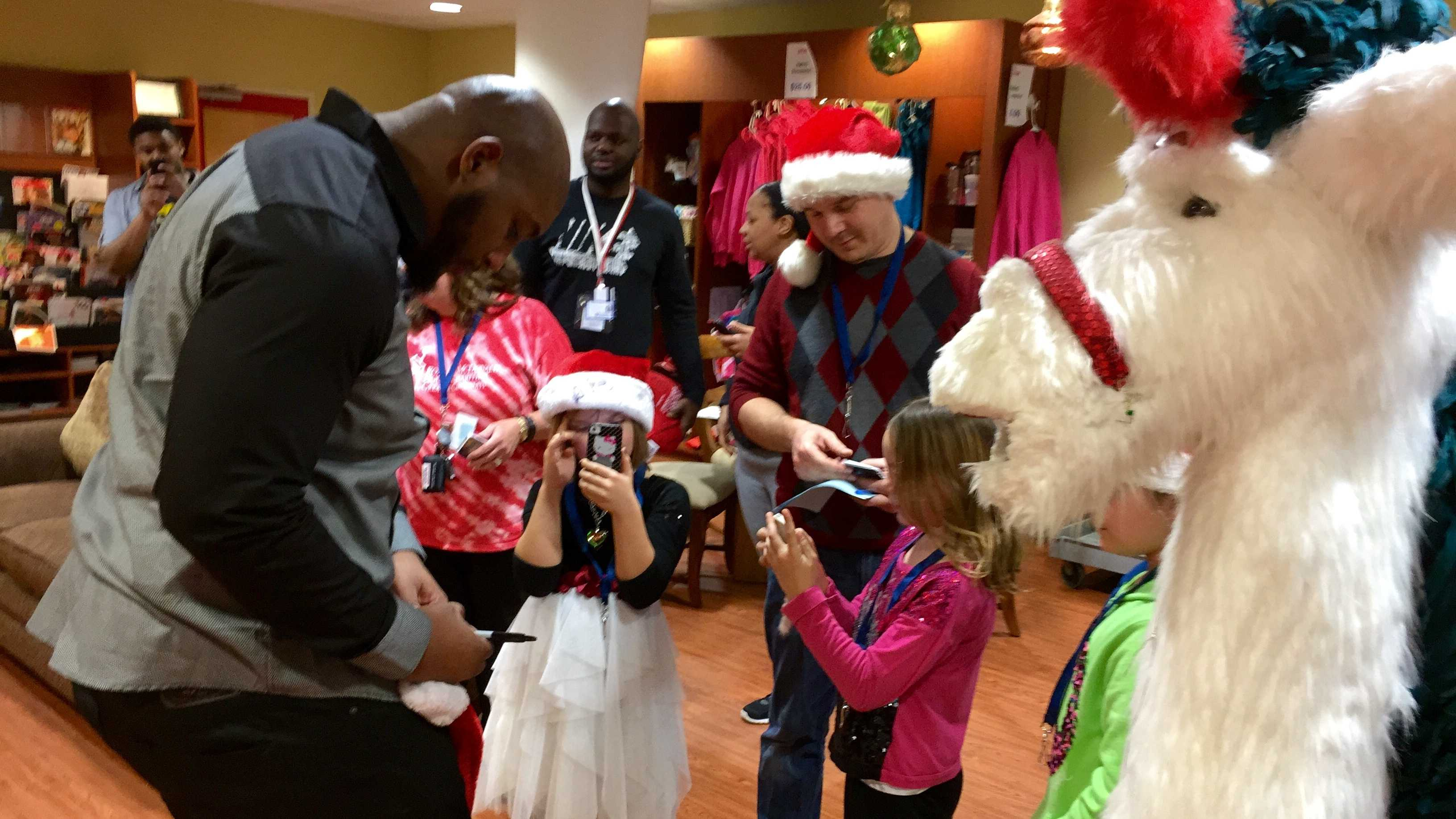 "Bengals defensive tackle Devon Still visited families of sick children at the Cincinnati Ronald McDonald House on Christmas Eve. Volunteers created a spa to give parents massages, facials and makeovers. Parents also got a chance to pick out wrapped and donated gifts for their children. ""Being a parent who's dealing with a child who has a serious illness, I understand that you give a lot of your attention, a lot of your energy to your child and make sure they are comfortable. You often times forget about taking care of yourself,"" Still said. ""Just to know you are touching people lives and giving them inspiration, it gives you a sense of purpose to your life."""