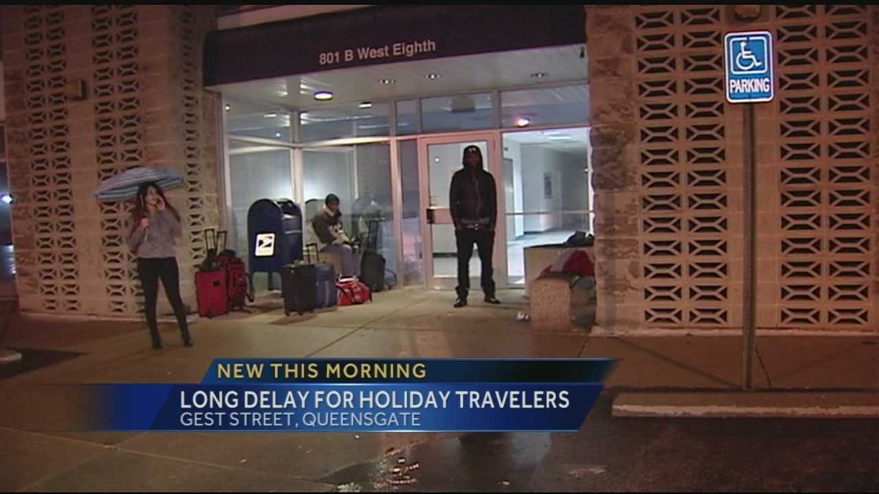 Several Atlanta-bound passengers spent a cold Christmas Eve in Cincinnati