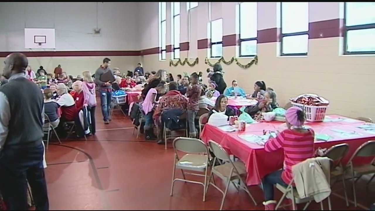 Tri-state churches are making sure no one is forgotten this holiday, sharing meals, gifts and memories. The St. Paul Lutheran Church hosted 150 families, who don't take the spirit of this holiday for granted.
