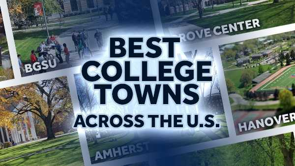 This is a list of the 20 best college towns across the U.S. according to wallethub.com. You can see the entire list of all 280 towns here.