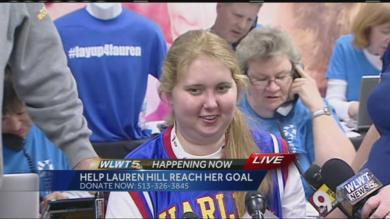 Lauren Hill achieved her goal Tuesday surpassing the $1 million mark shortly after 6 p.m. Organizers said an anonymous donation shortly after 6 p.m. of $116,000 pushed the total over the $1 million mark.