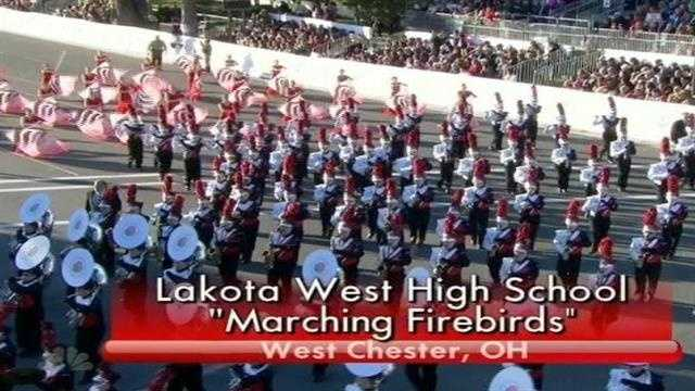 Fans of the Lakota West Marching Firebirds didn't have to wait long to see their band in action on NBC Thursday.