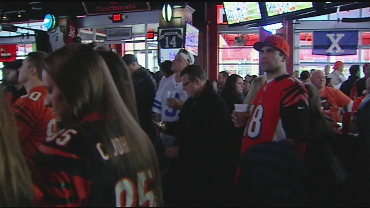 Fans of the Cincinnati Bengals, be they diehards or doubters, shared space in bars like The Holy Grail at The Banks.