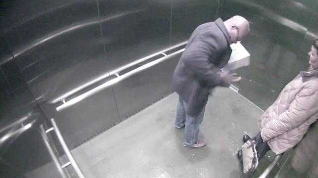 Video released Monday shows an Erlanger police officer accidentally shooting himself in an Over-the-Rhine elevator.